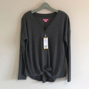 Isaac Mizrahi | NWT Waffle Knit Button-up